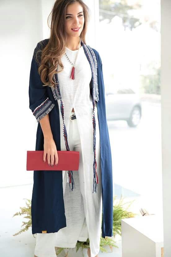 مدل مانتو عربی جلوباز ساده