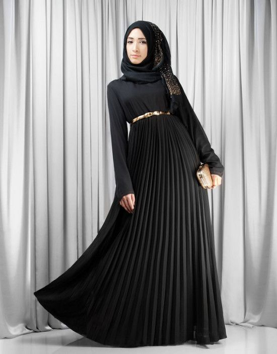 مانتو عربی مشکی بلند دخترانه