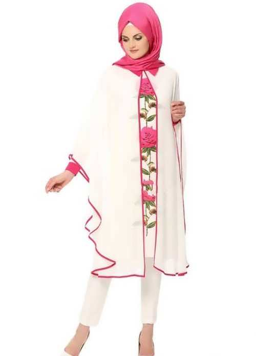 مدل مانتو حریر گلدار بلند