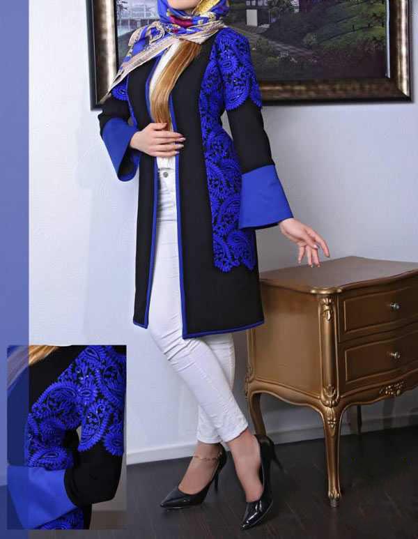 مدل مدل مانتو مشکی با طرح و رنگ سال 99 99